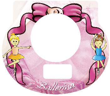 New Digital Tot Clock Faceplate - Ballerina Design