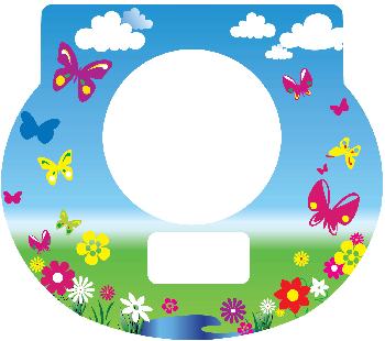 New Digital Tot Clock Faceplate - Butterflies Design