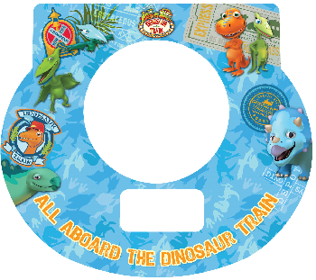 New Digital Tot Clock Faceplate - Dinosaur Train Design