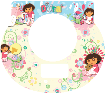 New Digital Tot Clock Faceplate - Dora the Explorer Design