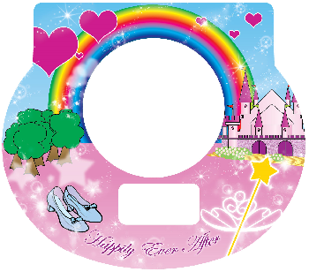 New Digital Tot Clock Faceplate - Princess Design