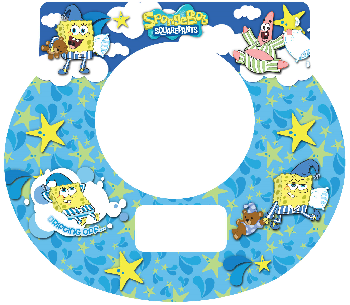 New Digital Tot Clock Faceplate - SpongeBob Design
