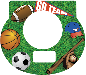 New Digital Tot Clock Faceplate - Sports Design