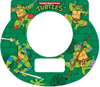 New Digital Tot Clock Faceplate - Teenage Mutant Ninja Turtles